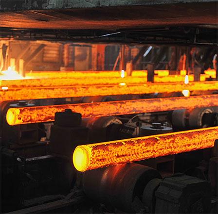 Producción de tubos, barras, etc.