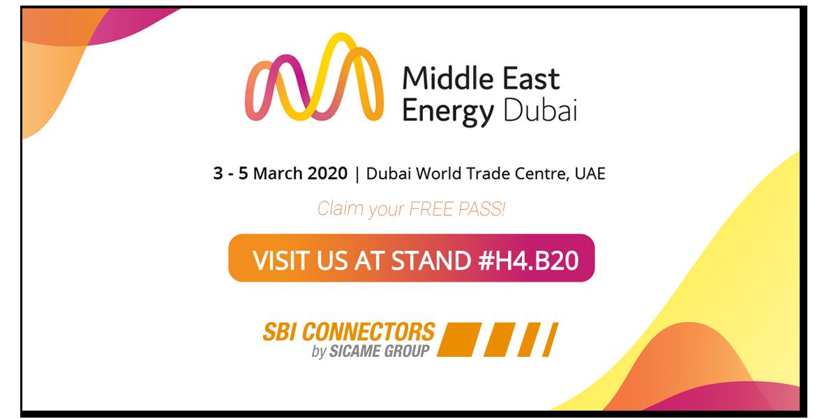 SBI CONNECTORS Middle East Energy, Dubai 2020. SBI CONNECTORS otro año en la MEE